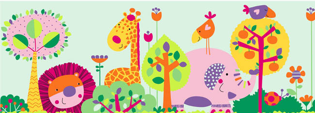 森林的小动物卡通图