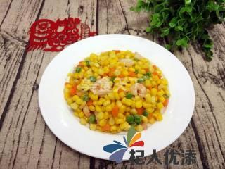 虾仁炒玉米