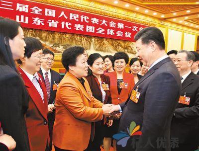 习近平李克强王沪宁赵乐际韩正分别参加全国人大会议一些代表团审议